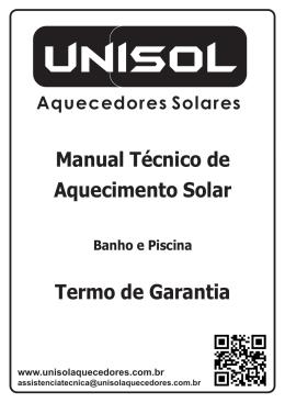 Manual de Aquecimento Solar e Termo de