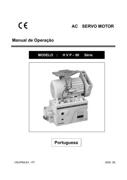 AC SERVO MOTOR Manual de Operação Portuguesa