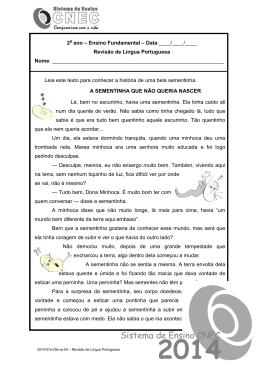 2ª Revisão de Língua Portuguesa, 2º ano, semana 29