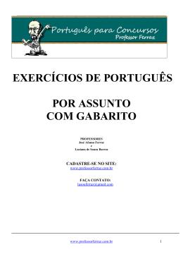exercícios de português por assunto com gabarito