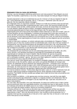 PENSANDO FORA DA CAIXA (DE ENTRADA) Eliminar o - UBQ