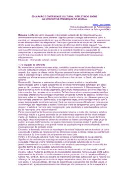 EDUCAÇÃO E DIVERSIDADE CULTURAL - sinpro-df