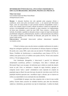 Nilma Lino Gomes. DIVERSIDADE ÉTNICO-RACIAL