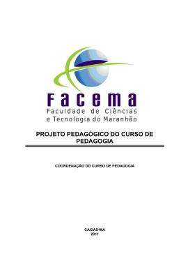 Projeto Pedagógico do Curso de Pedagogia da FACEMA