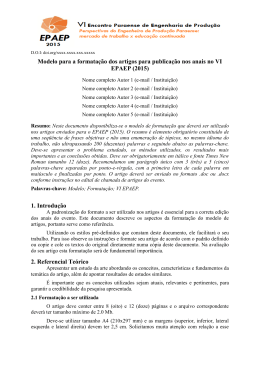 Modelo de relatorio de atividades