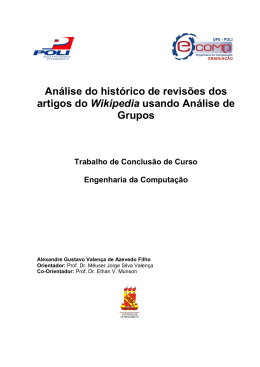 Análise do histórico de revisões dos artigos do Wikipedia usando