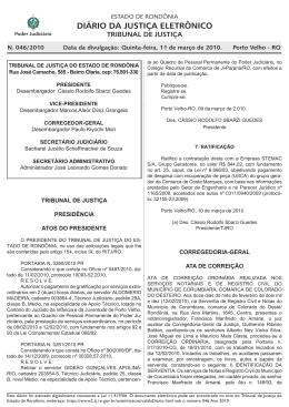 11 - Tribunal de Justiça de Rondônia