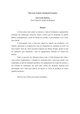 Bem-estar Animal e Instalações Pecuárias José Carlos Barbosa