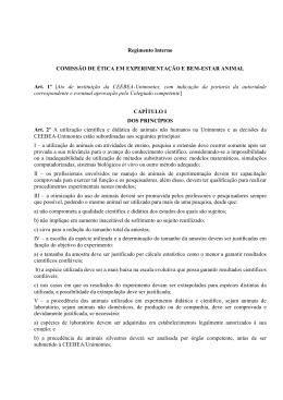 Regimento Geral - Universidade Estadual de Montes Claros