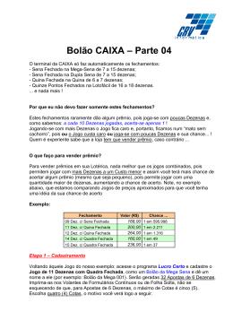 Bolão CAIXA – Parte 03