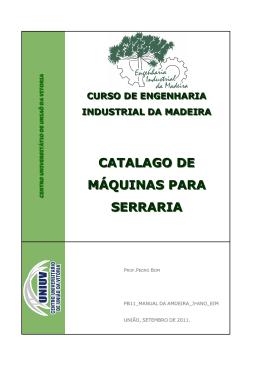 Catálogo de Máquinas