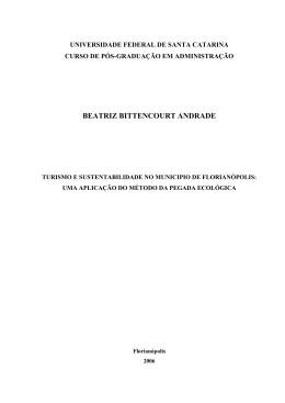 beatriz bittencourt andrade - Repositório Institucional da UFSC