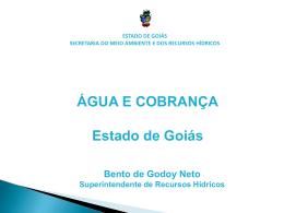 ÁGUA E COBRANÇA Estado de Goiás - CBH