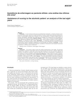 Assistência de enfermagem ao paciente etilista: uma análise