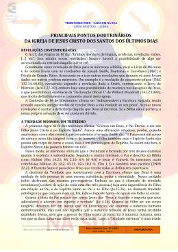 principais pontos doutrinários da igreja de jesus cristo dos santos