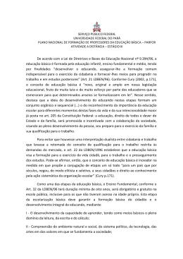Estágio III – Profª Carlene Ferreira Nunes - Aedi