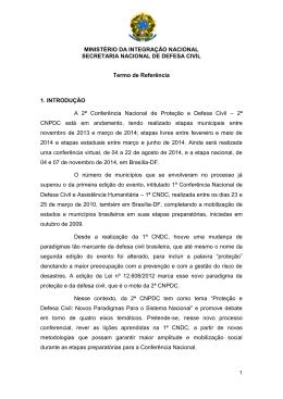 MINISTÉRIO DA INTEGRAÇÃO NACIONAL SECRETARIA