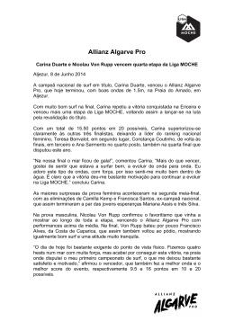 Allianz Algarve Pro - Associação Nacional de Surfistas