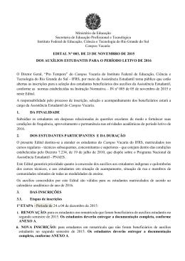 edital n° 003/2015