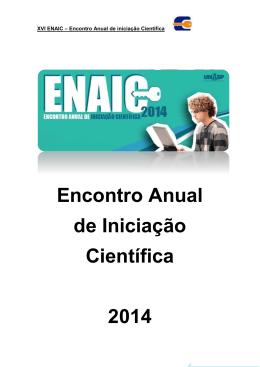 Encontro Anual de Iniciação Científica 2014
