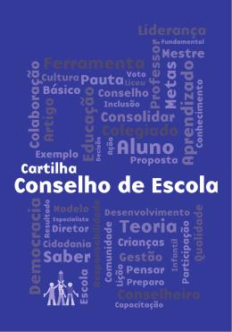 Cartilha Conselho de Escola - Secretaria da Educação