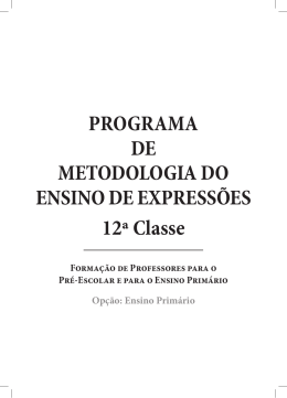 PROGRAMA DE METODOLOGIA DO ENSINO DE EXPRESSÕES