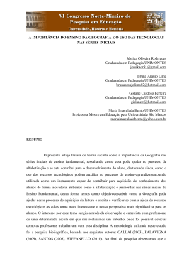 A IMPORTÂNCIA DO ENSINO DA GEOGRAFIA E O - VII Coped-NM