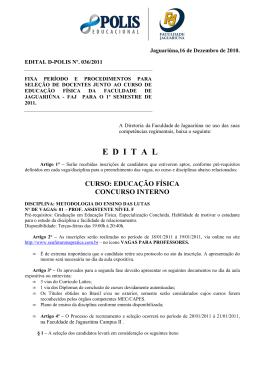 Edital N 036-2011 - Educação Física _Metodologia do Ensino das