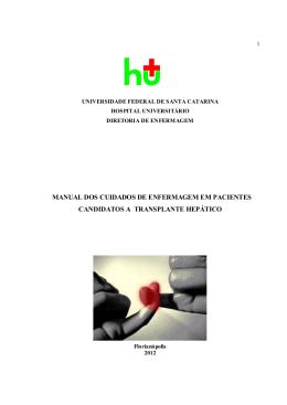 manual dos cuidados de enfermagem em pacientes candidatos