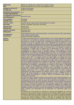 Designação Title Módulo de questões para o domínio dos cuidados