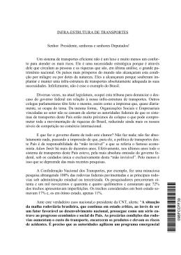 INFRA-ESTRUTURA DE TRANSPORTES