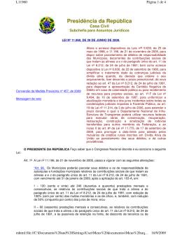 lei nº 11.960, de 29 de junho de 2009.
