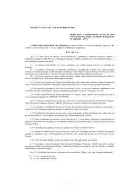DECRETO Nº 6.929 - Prefeitura de Teresina