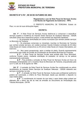Decreto nº 5.767, de 08 de outubro de 2003