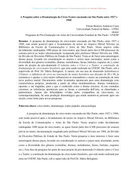 Eliene Benício Amâncio Costa - A Pesquisa sobre