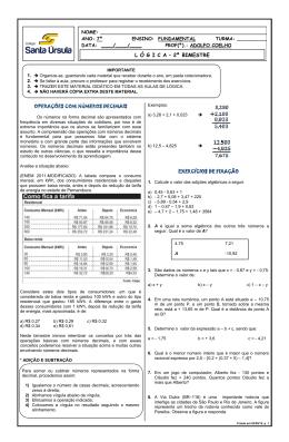 lógica_apostila do bimestre _operações com números decimais