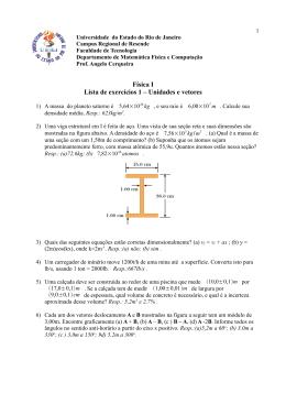 Lista 1 - Física I