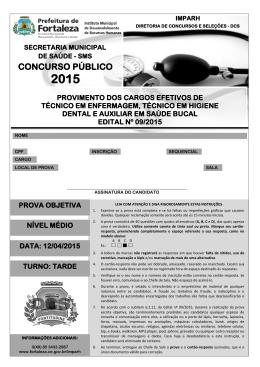 CONCURSO PÚBLICO - Prefeitura Municipal de Fortaleza