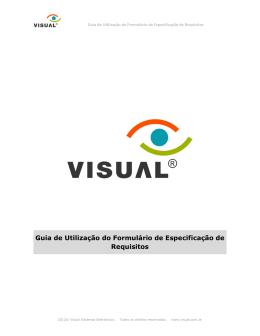 Guia de Utilização do Formulário de Especificação de