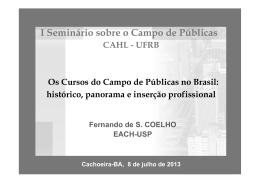 I Seminário sobre o Campo de Públicas