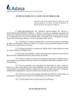 Instrução Normativa nº 02, de 11 de outubro de 2006