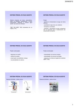 sistema predial de água quente sistema predial de água