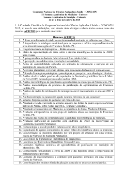 1. A Comissão Científica do Congresso Nacional de