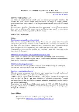 fontes de energia - Secretaria de Estado da Educação do Paraná