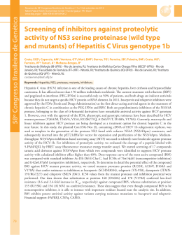 Screening of inhibitors against proteolytic activity of NS3 serine