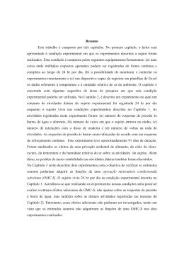 Resumo Este trabalho é composto por três capítulos. No - PUC-SP
