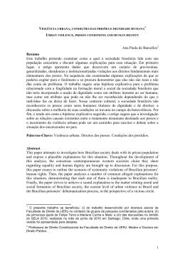 Ana Paula de Barcellos Resumo Este trabalho pretende examinar