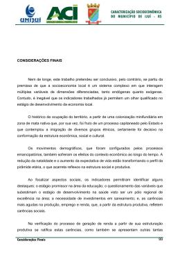 Considerações Finais 99 CONSIDERAÇÕES FINAIS Nem de longe