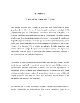 CAPÍTULO 6 CONCLUSÕES E TRABALHOS - mtc