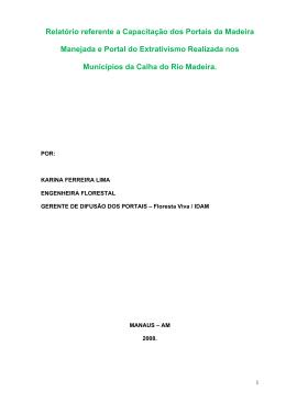 Relatório referente a Capacitação dos Portais da Madeira